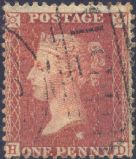 1856 1d Red SG29 Plate 36 'HD'